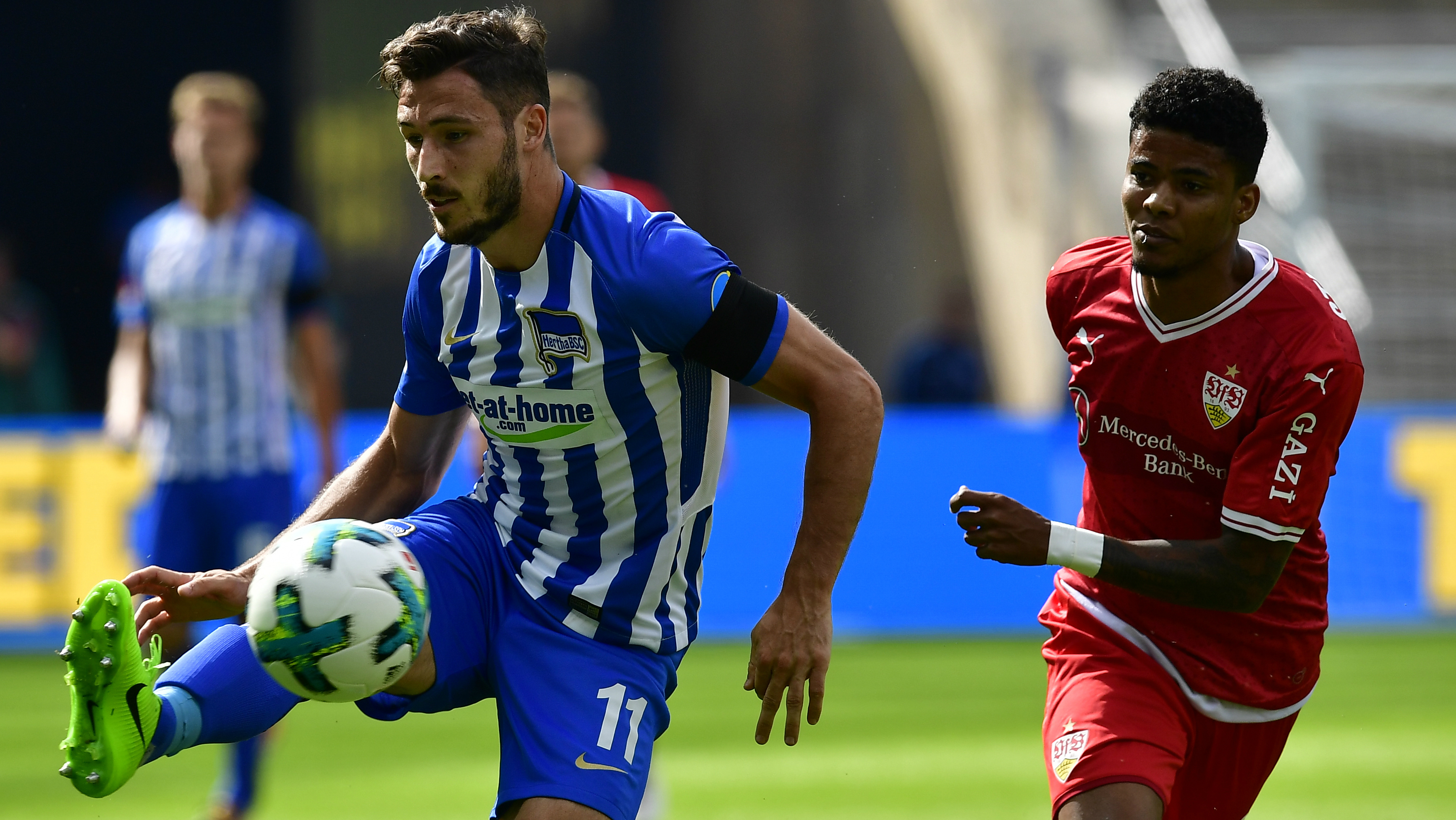 Mathew Leckie was in fine form for Hertha Berlin in their Bundesliga opening day victory over Vfb Stuttgart.