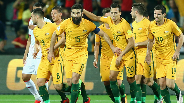 Mile Jedinak put the Socceroos 2-0 up in the 12th minute from the penalty spot.