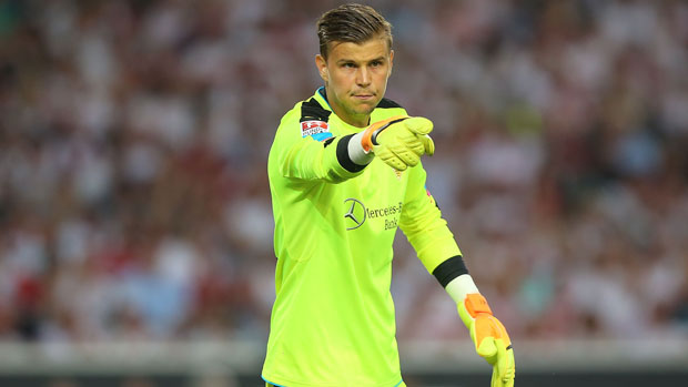 Mitch Langerak's VFB Stuttgart are potentially one result away from promotion to the Bundesliga following a stirring 3-2 away win over Nurnberg in Germany.