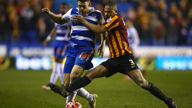 James Meredith in action for Bradford City in the FA Cup.