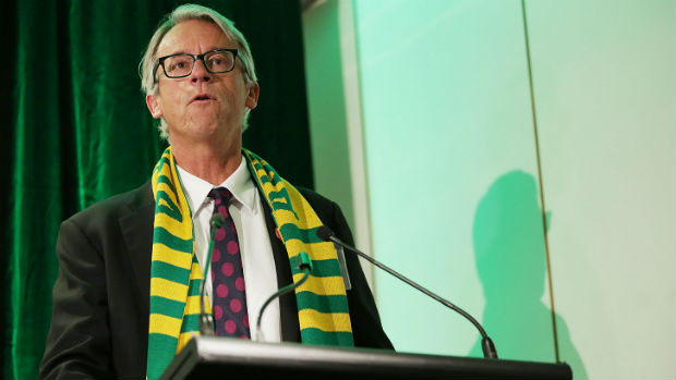 David Gallop launches Football Cares at Parliament House in Canberra.