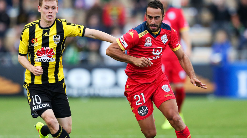 6. Tarek Elrich: Adelaide United, 75 tackles in total with 81.3 percent won = 61 tackles won