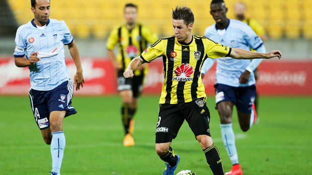 Phoenix attacker Nathan Burns was well contained by Sydney FC.