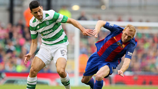 Tom Rogic's Celtic will tackle Barcelona in the Champions League on Thursday morning (AEDT).