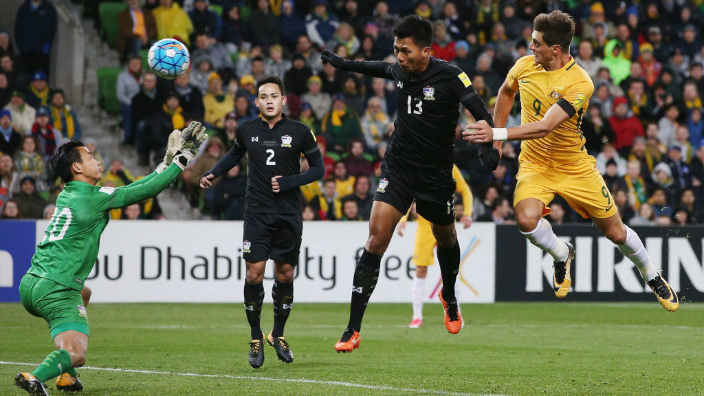 Tomi Juric fired the Socceroos ahead with just over 20 minutes remaining as Australia defeated Thailand 2-1 in Melbourne.