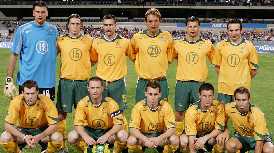 The Socceroos starting XI which faced Indonesia in Perth in 2005.
