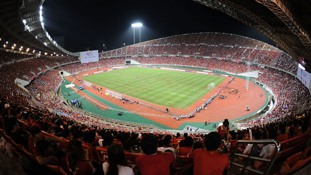 A birds eye view of Rajamangala Stadium, Thailand's National Stadium.