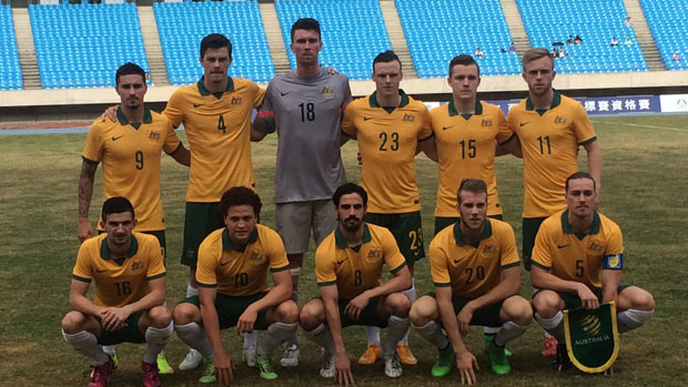 The Olyroos starting XI which beat Myanmar 5-1 on Tuesday night.