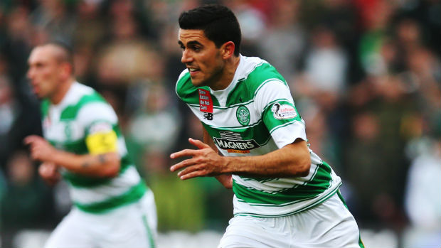Socceroos midfielder Tom Rogic in action for Celtic.