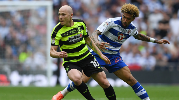 Aaron Mooy on the ball for Huddersfield Town in the Playoff Final.