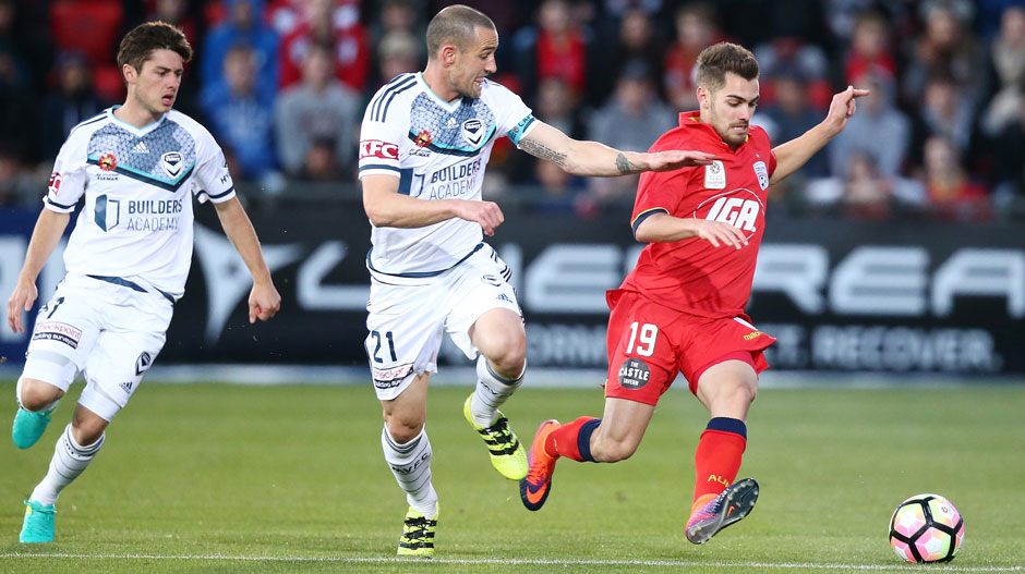 Equal 3rd: Ben Garuccio (Adelaide United) – The speedy youngster has provided two assists for the Reds, pretty good going for a left-back.