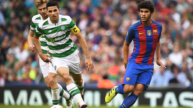 Tom Rogic's Celtic have been handed a tough group in the UEFA Champions League, including Spanish giants Barcelona.
