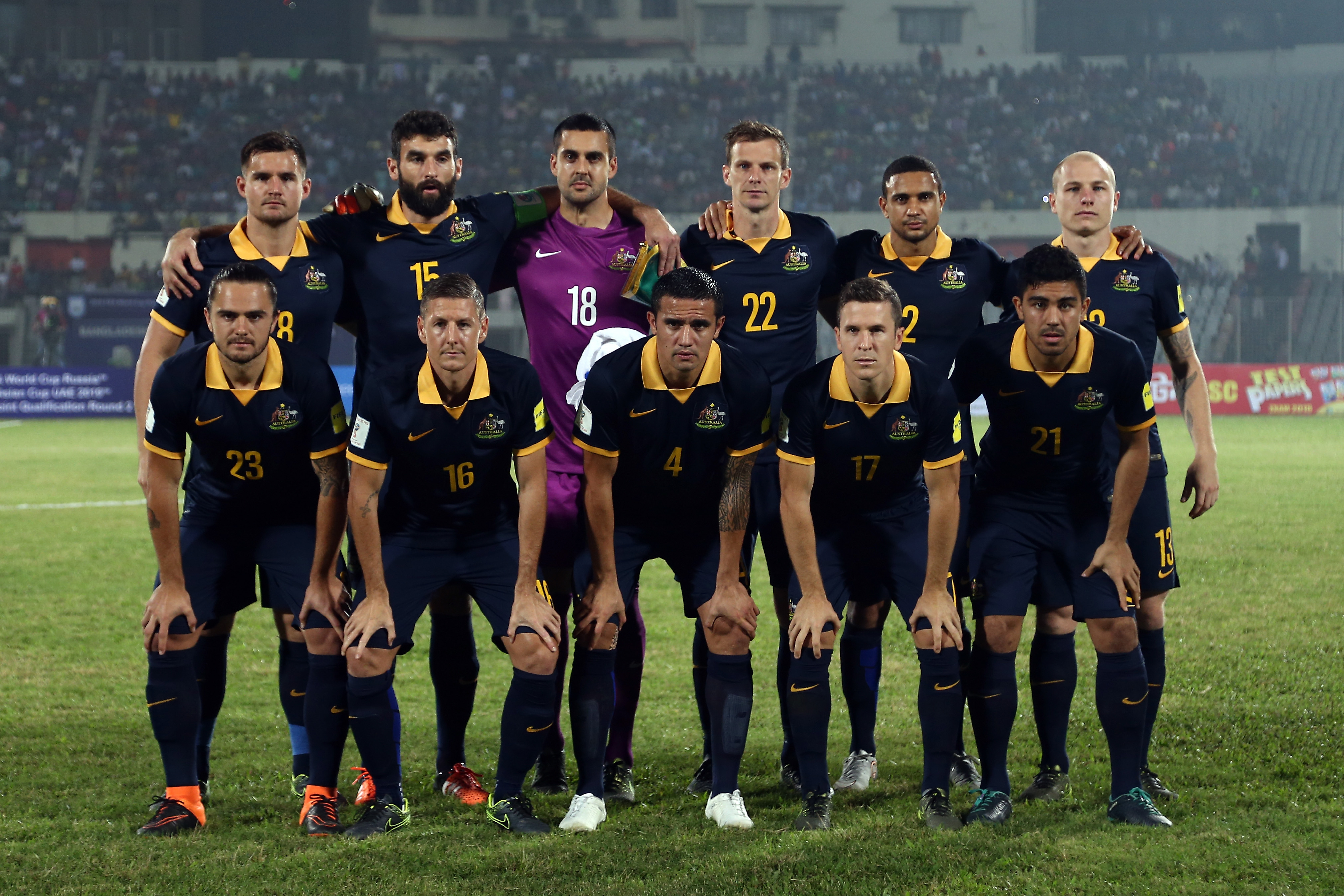 The Socceroos XI which started November's international against Bangladesh.