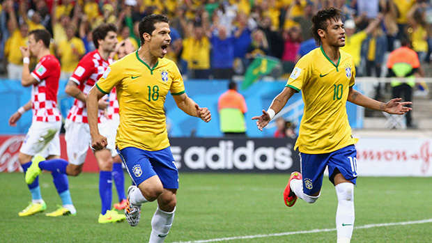Brazil's Neymar netted a brace for the World Cup hosts in the opener against Croatia.