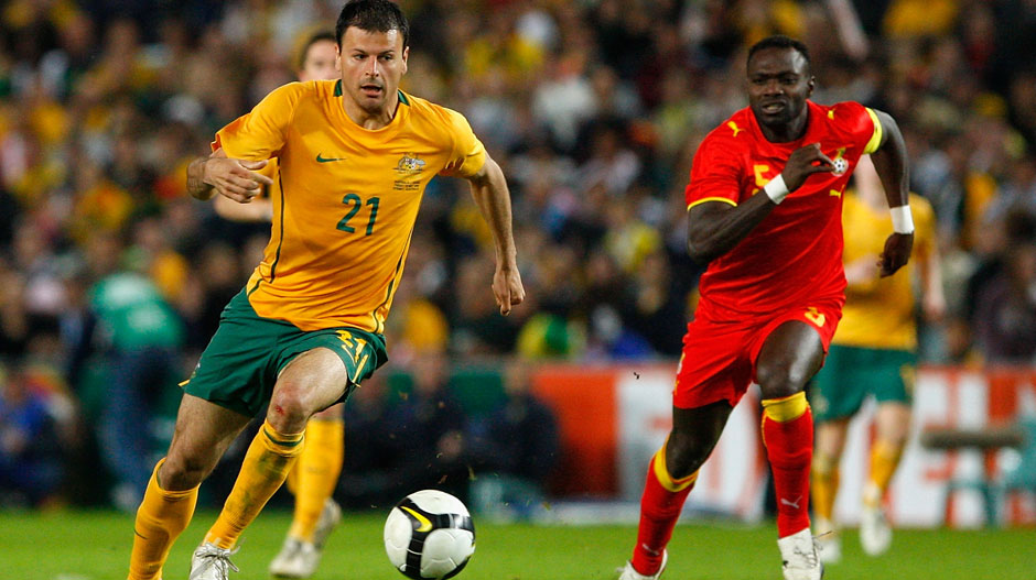 Mile Sterjovski: A solid contributor for the Socceroos over many seasons, Sterjovski wore the Green and Gold 38 times, scoring six goals.