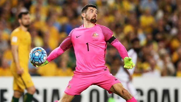 Caltex Socceroos keeper Mat Ryan was in fine form but has missed out on the semi-finals of the Europa League.