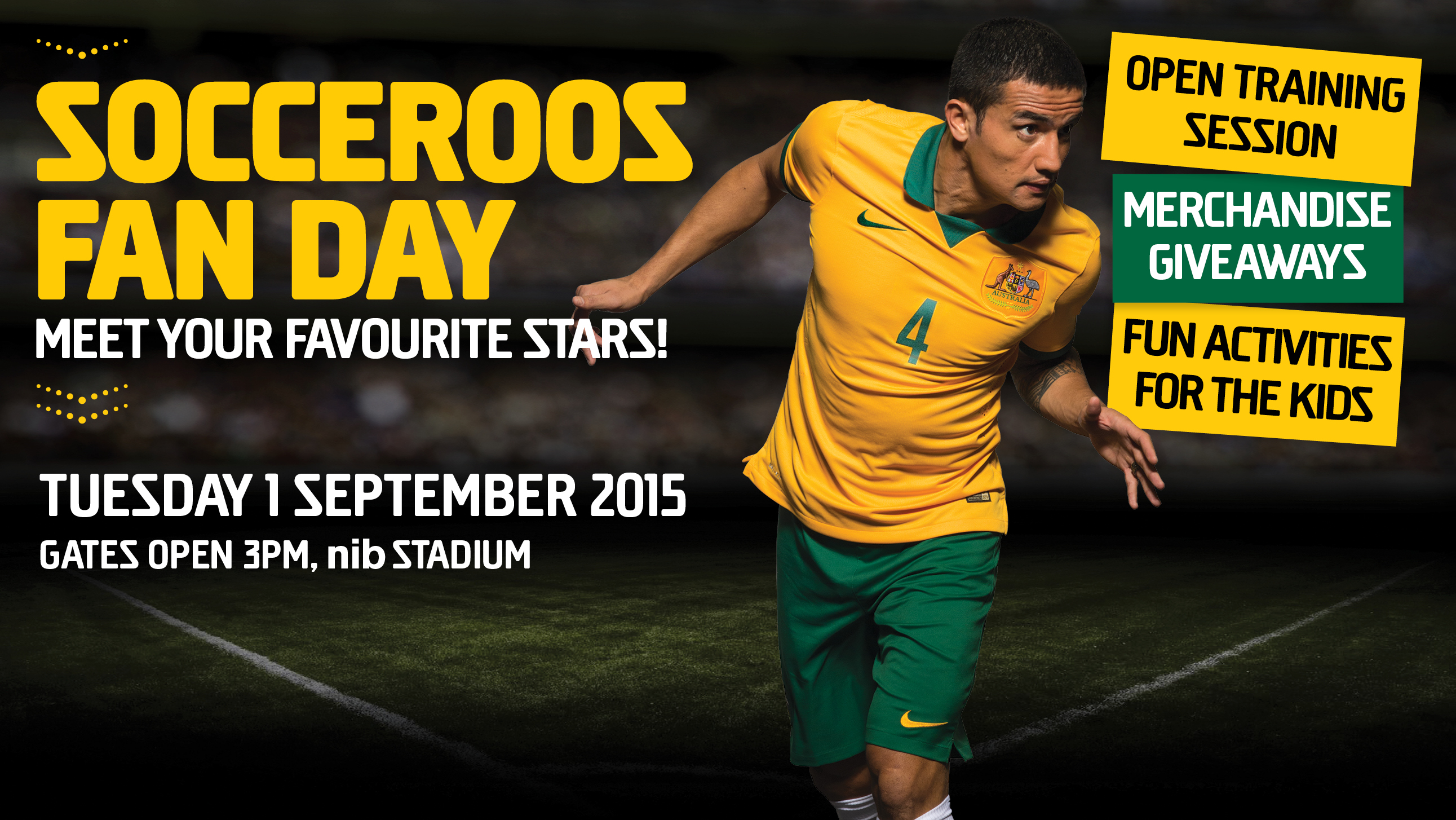 Socceroos Fan Day lead