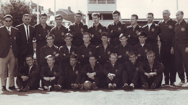 The 1965 Socceroos, the pioneers of Australia's World Cup journey.
