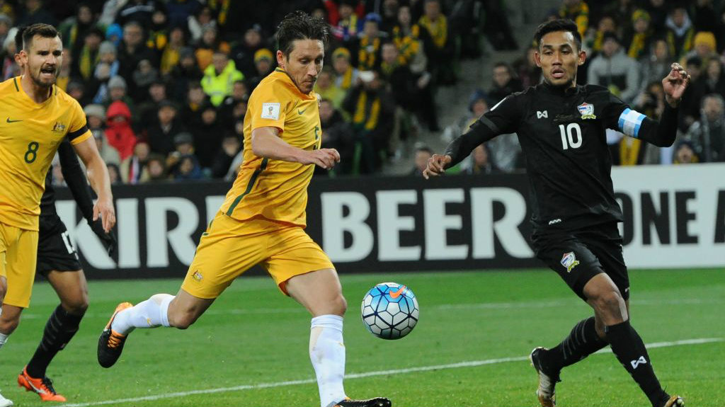Mark Milligan was one of Australia's best in their 2-1 win over Thailand.