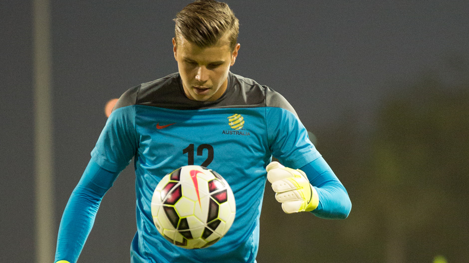 Mitch Langerak will be desperate to stake his claim for the Socceroos' number 1 spot.