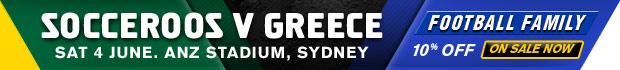 Socceroos v Greece banner
