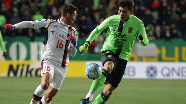 Nathan Burns netted in FC Tokyo's ACL win overnight.