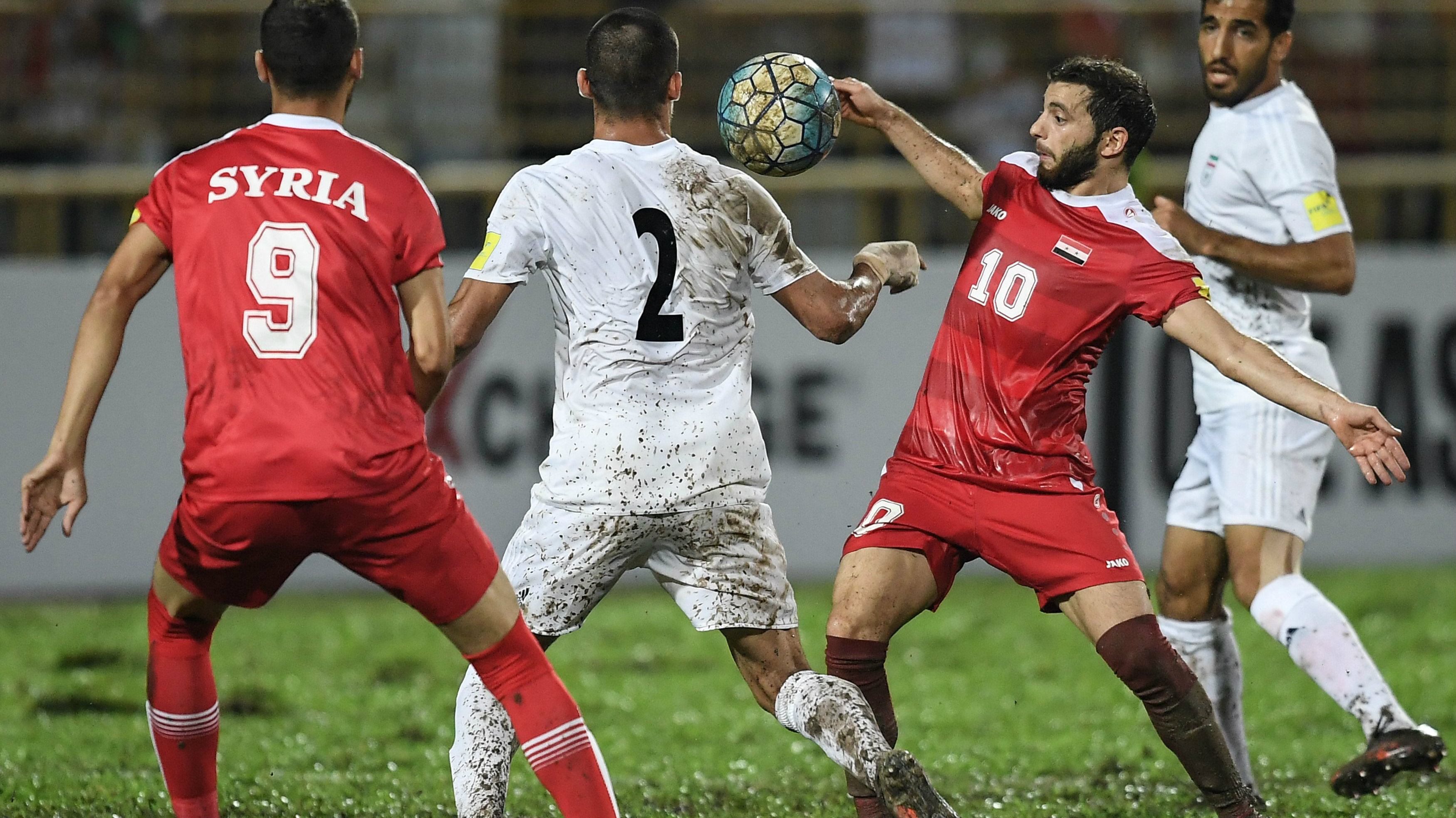 Syria in action during a home qualifier in Malaysia.
