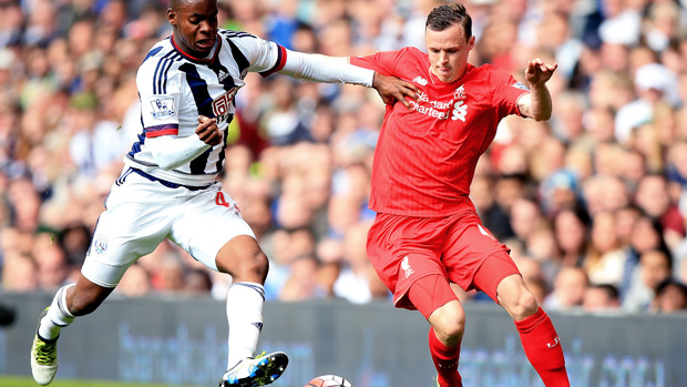 Brad Smith in action for Liverpool in the English Premier League.