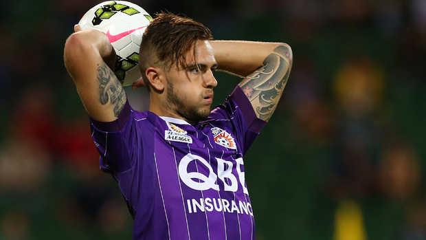 Josh Ridson in action for Perth Glory.