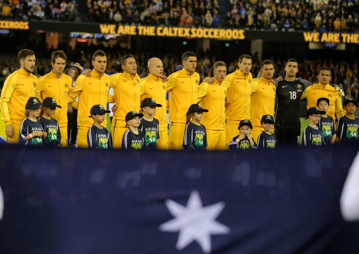 The Socceroos starting XI which lined up against Greece.