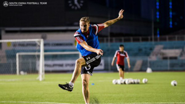Daniel McBreen in training with club side South China.