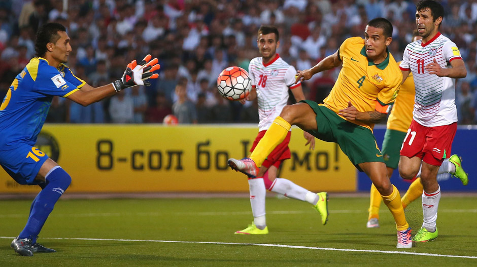 Tim Cahill netted a brace in Australia's 3-0 win over Tajikistan.