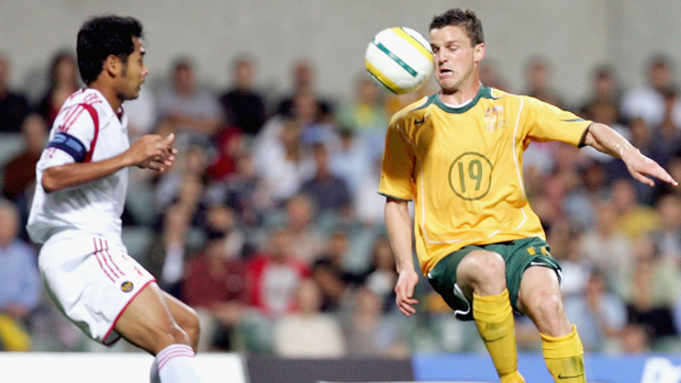 Jason Culina on the ball against Indonesia.