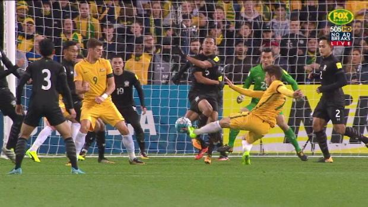 Leckie fires Socceroos ahead