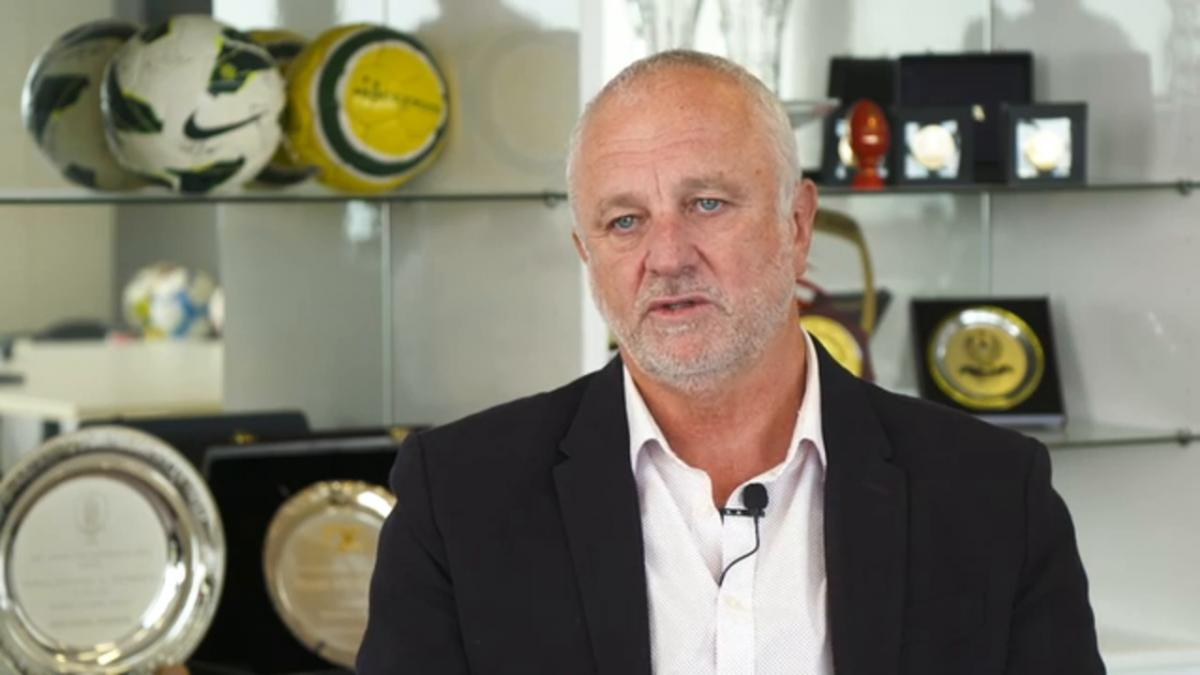 Graham Arnold reacts to the Copa America 2020 draw