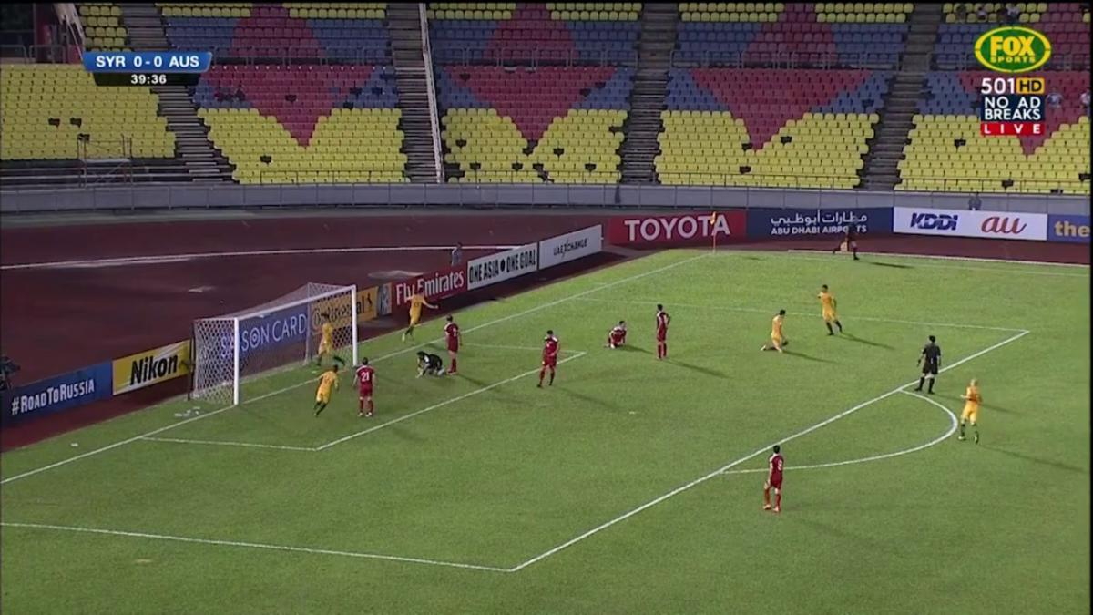 Kruse opens the scoring for the Socceroos