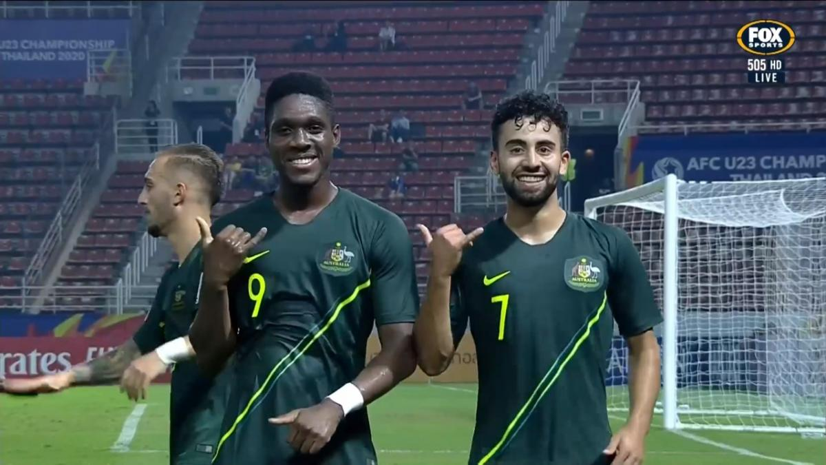 GOAL: Najjarine - Olyroos break the deadlock