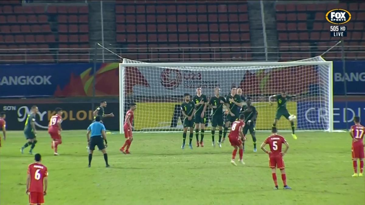 GOAL: Marhoon - Bahrain equalise with the last kick of the half