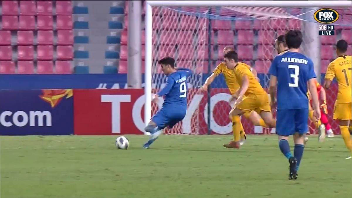 SAVE: Glover - Safe set of hands from the Olyroos keeper