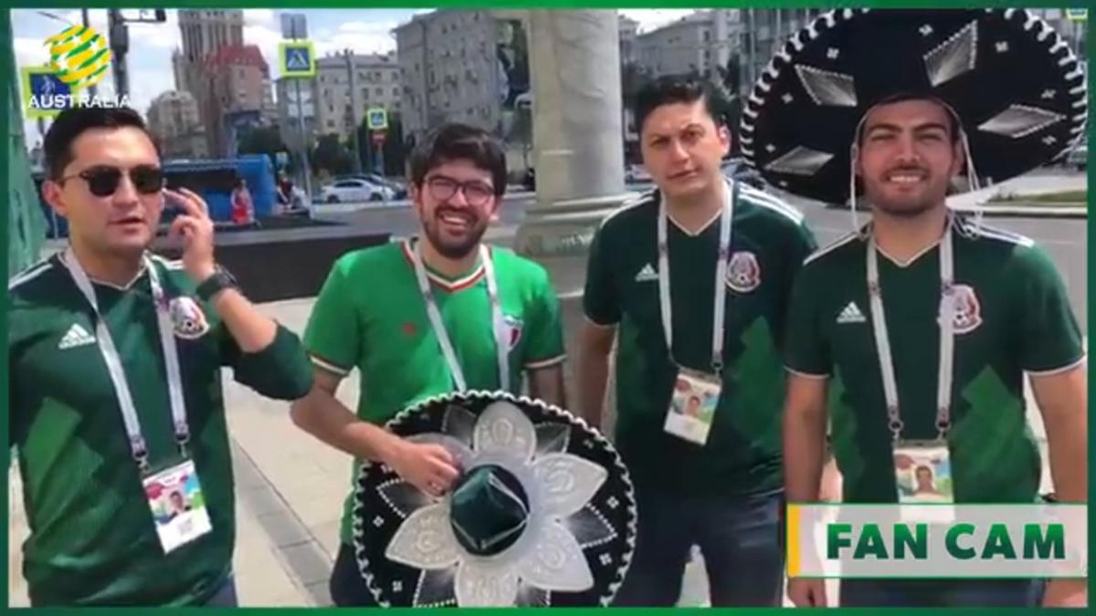 Mexican fans on the Socceroos