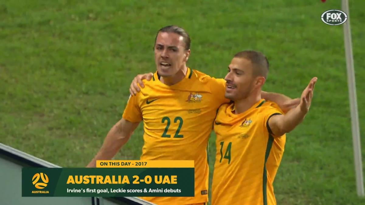 Jackson Irvine's first Socceroos goal, Mustafa Amini debuts in FIFA World Cup qualifier