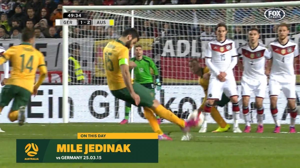 Mile Jedinak's free kick stuns FIFA World Cup Champions Germany in 2015