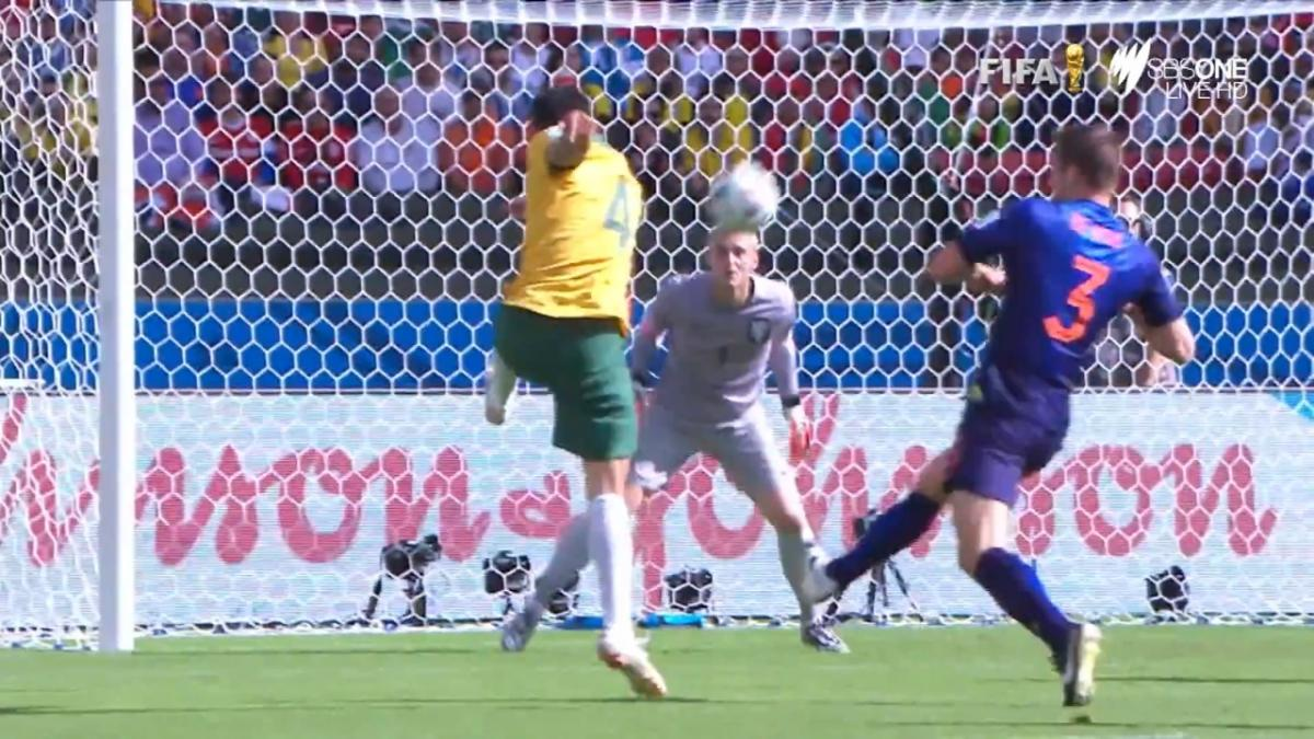 Tim Cahill's stunning volley v Netherlands at FIFA World Cup 2014