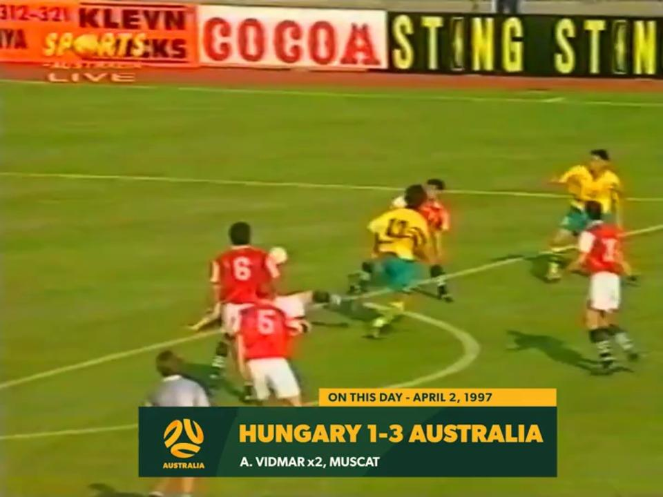 Aurelio Vidmar & Kevin Muscat give Socceroos victory over Hungary in 1997