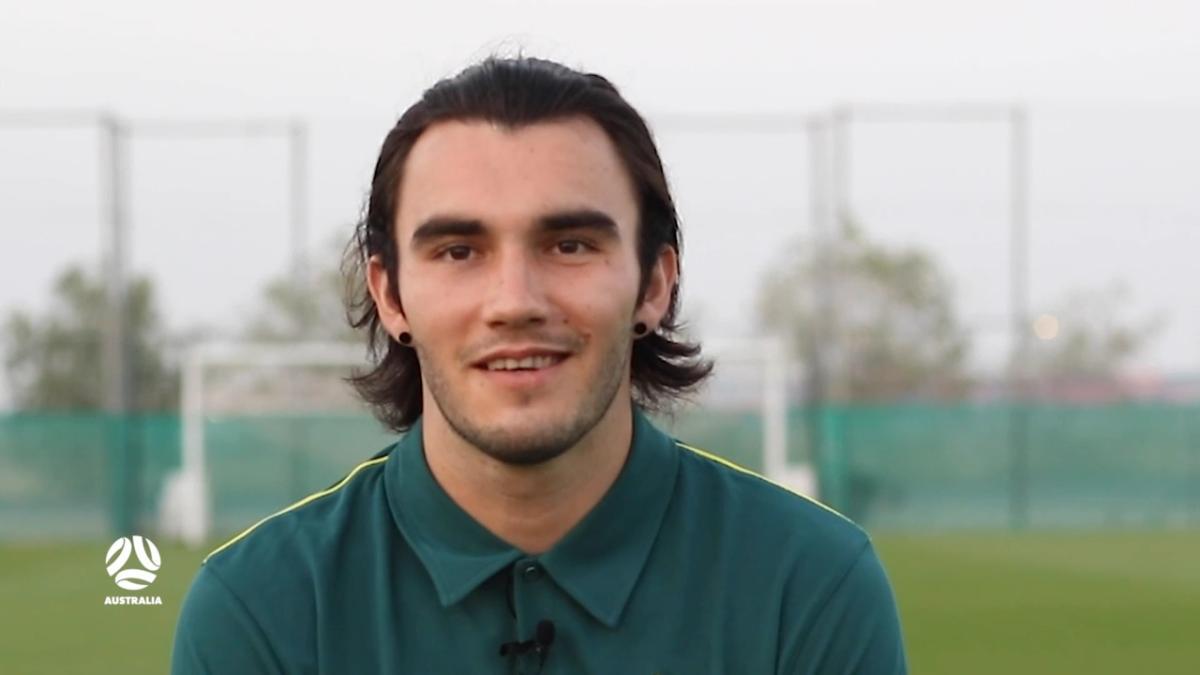 Aaron Mooy buries free kick on Socceroos debut in 2012