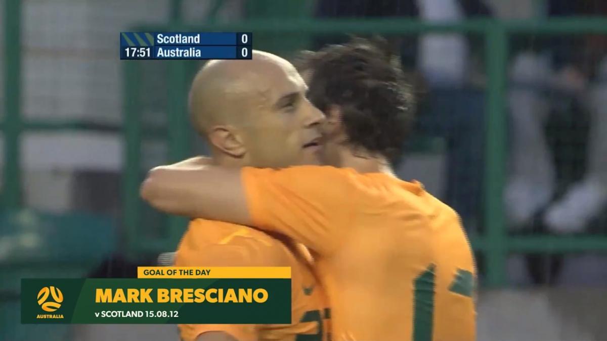 Mark Bresciano scores screamer against Scotland