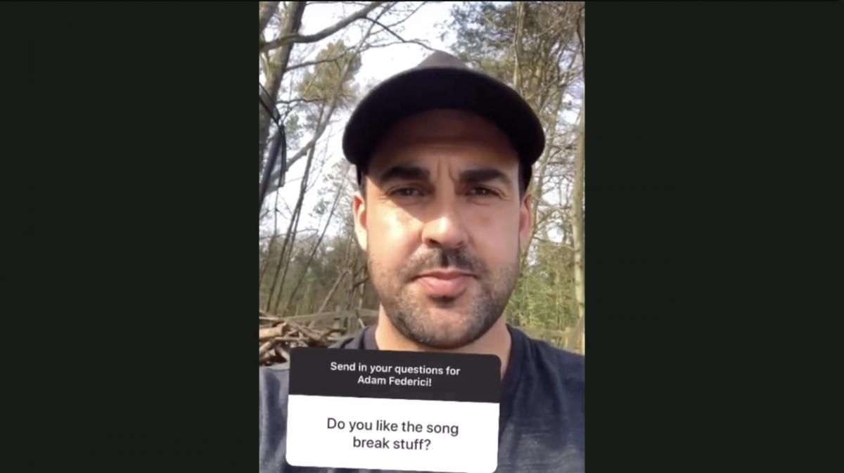 Adam Federici Q&A on Instagram