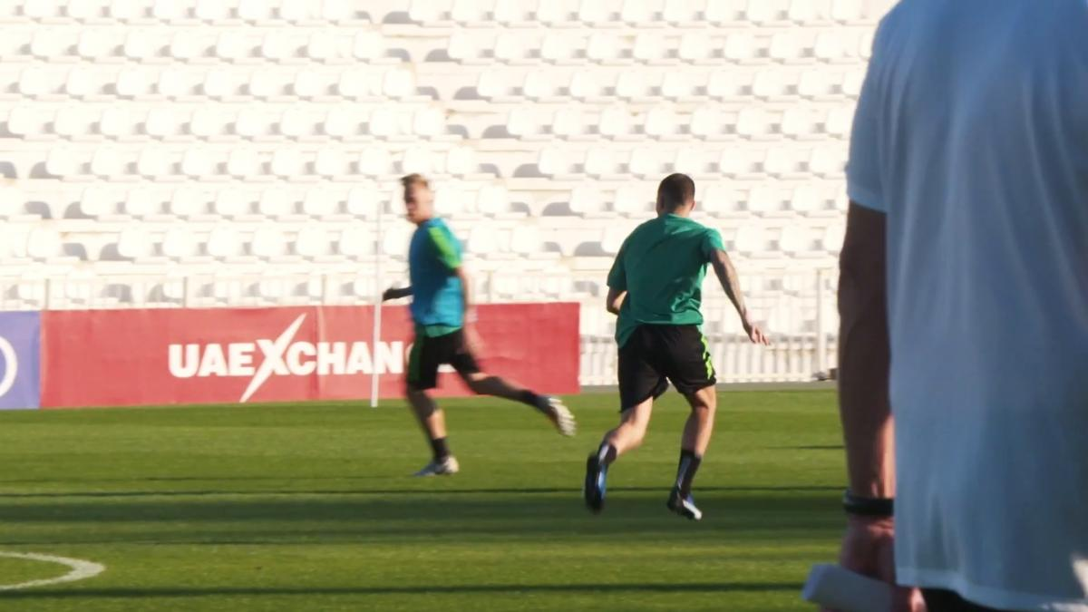 One on one: Jamie Maclaren trains in Al Ain
