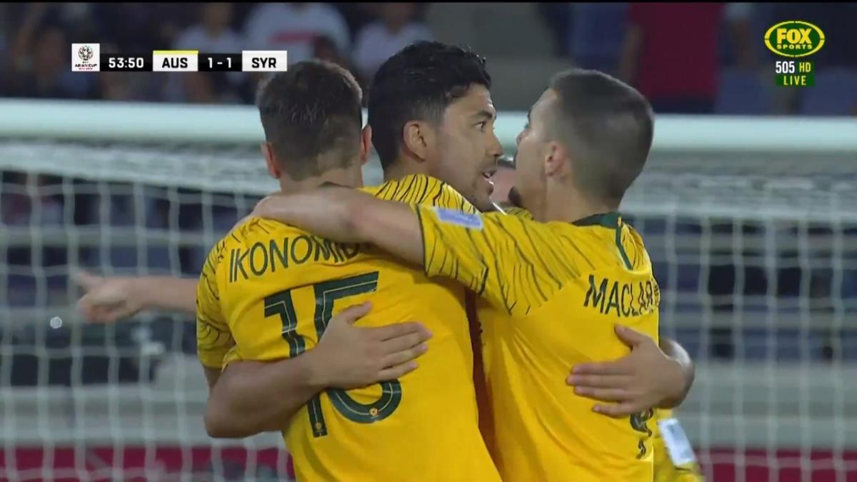 Chris Ikonomidis puts the Socceroos ahead once more