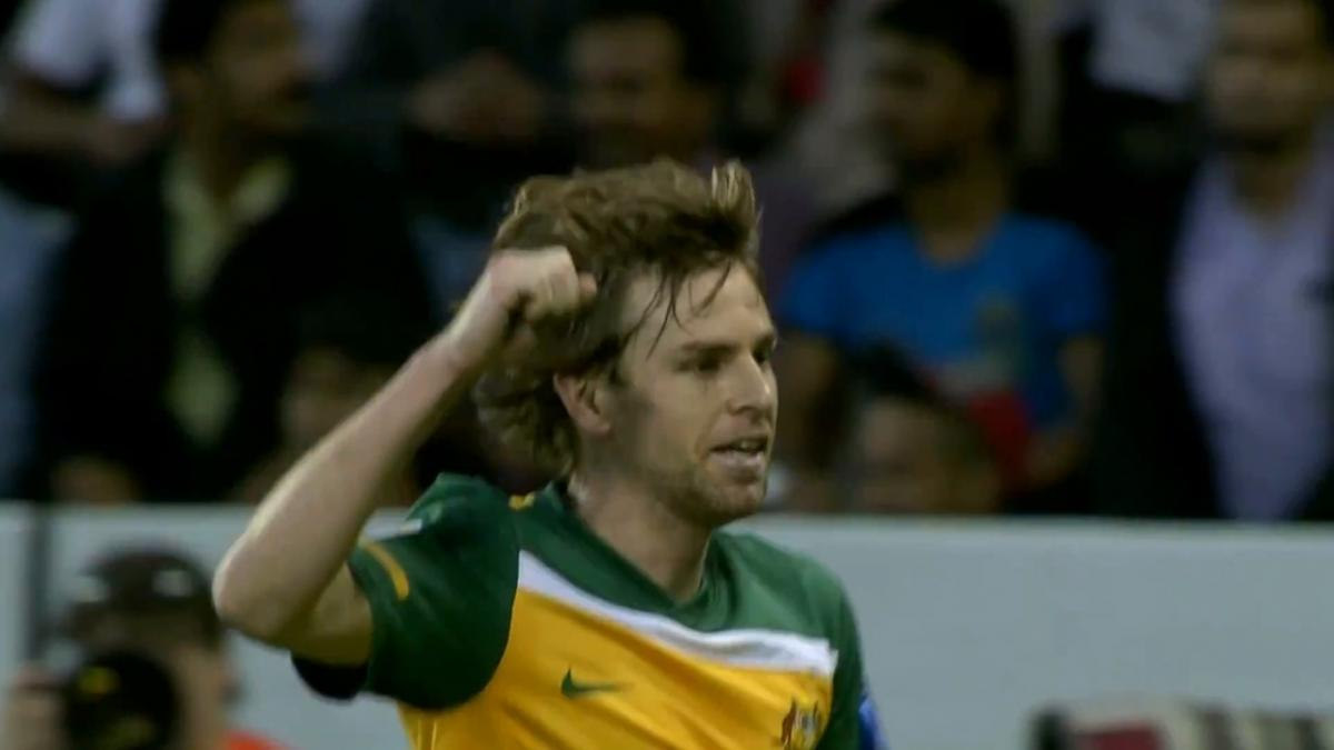 Brett Holman scores against India at AFC Asian Cup 2011